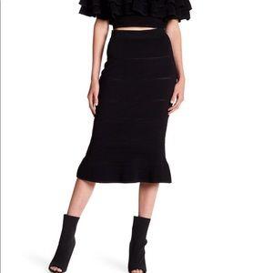 Keepsake Black Moonlight Midi Skirt NWT